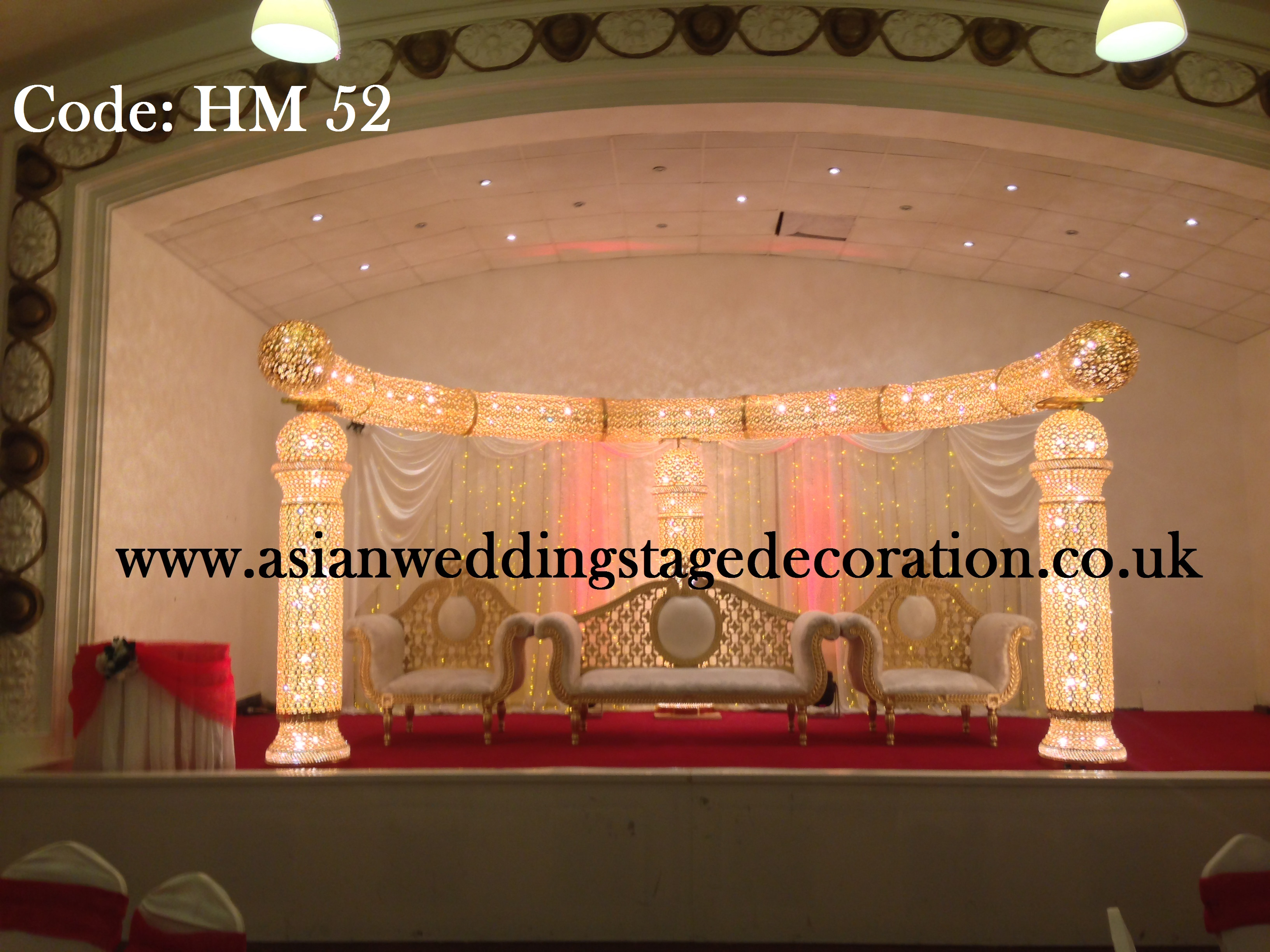 Wedding stages asian wedding stage decoration services for Asian wedding stage decoration london