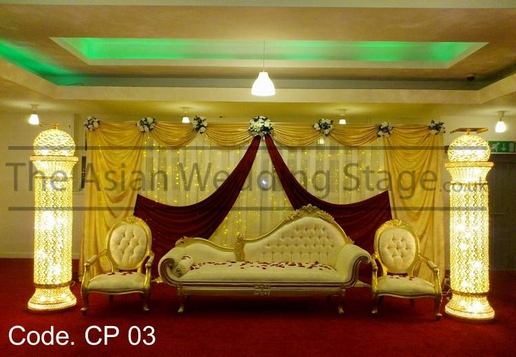 Asian wedding stage crystal stage decoration for Asian wedding stage decoration london