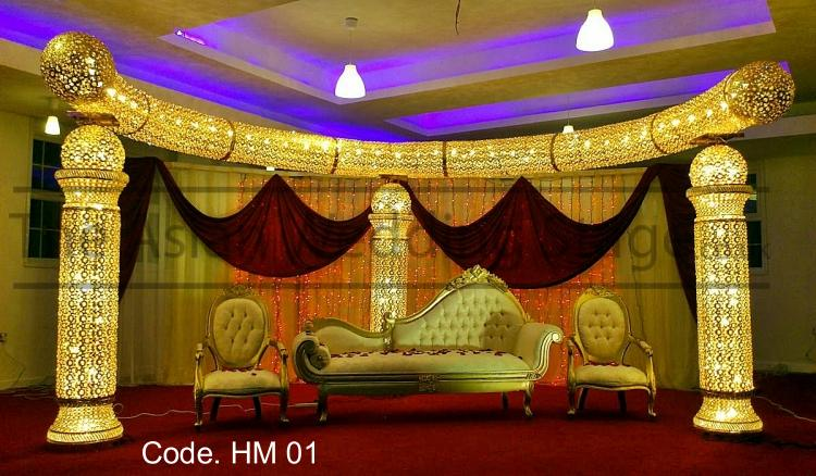 Asian wedding stage crystal stage decoration for Asian stage decoration