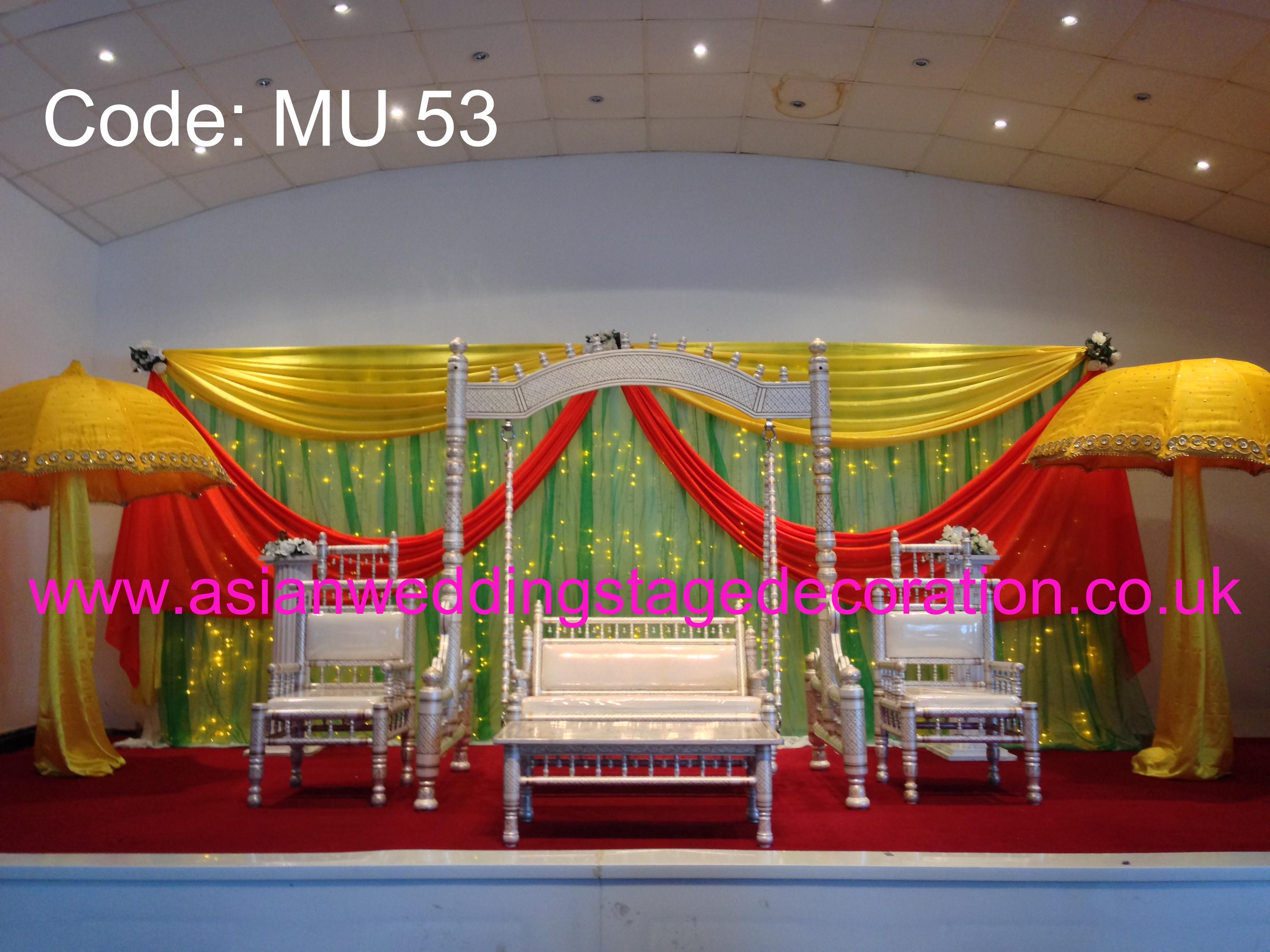 Asian wedding stage for Asian stage decoration