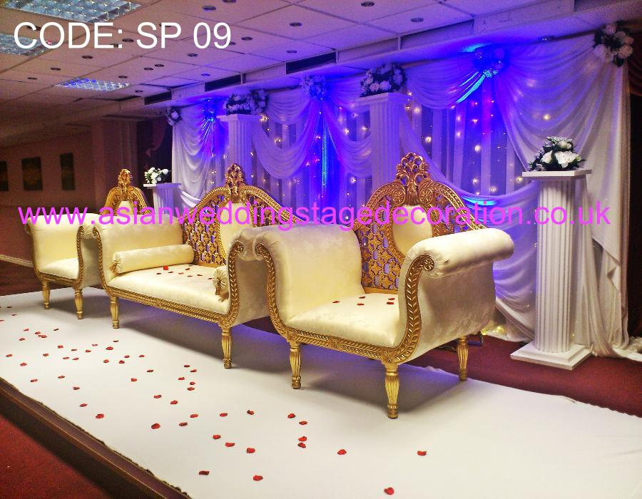 Asian wedding stages hire london birmingham and uk 39 s for Asian wedding decoration