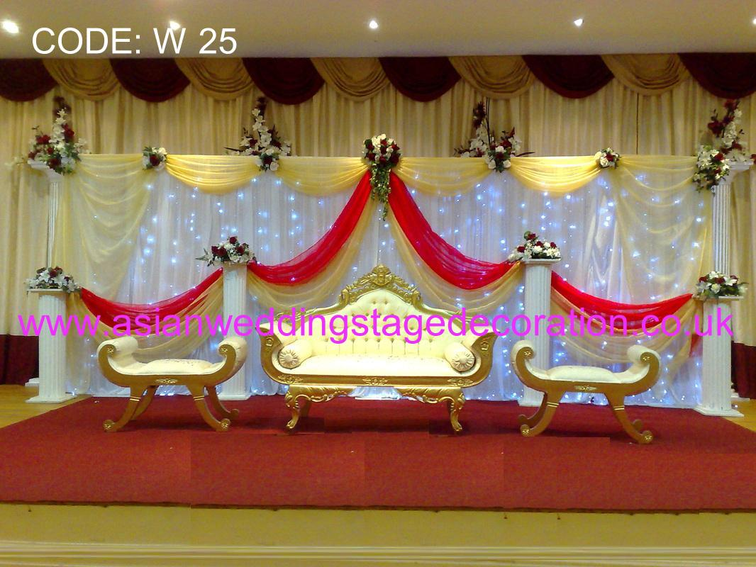 Asian wedding stage decorations balloons chair cover hire for Asian wedding decoration